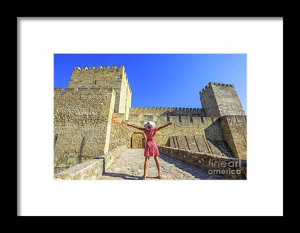 Lisbon Framed Print featuring the photograph Sao Jorge Castle Tourist by Benny Marty