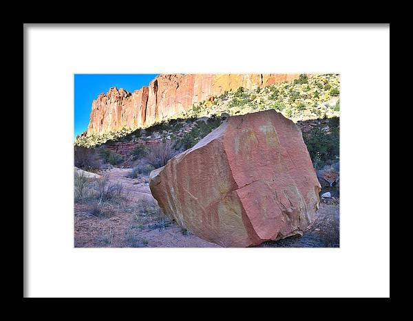 Grand Staircase Escalante National Monument Framed Print featuring the photograph Sapphire Rock by Ray Mathis