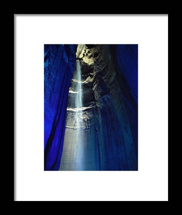 Sapphire Framed Print featuring the photograph Sapphire Ruby Falls by Pamela Smith