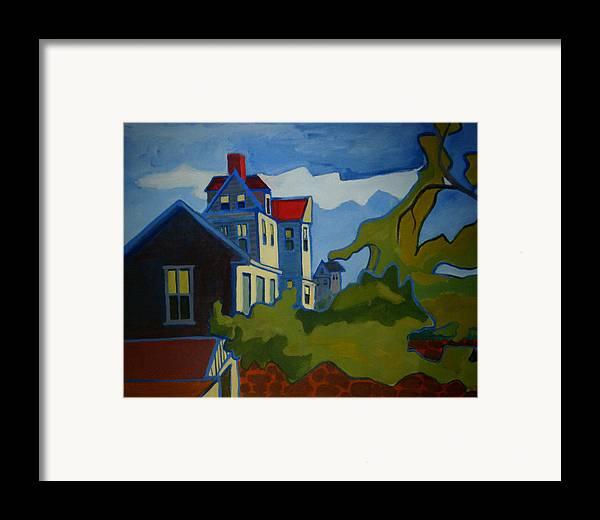 Buildings Framed Print featuring the painting Sarah Paul by Debra Bretton Robinson