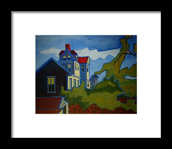 Buildings Framed Print featuring the painting Sarah Paul by Debra Bretton Robinson