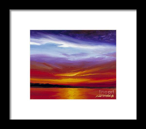 Skyscape Framed Print featuring the painting Sarasota Bay I by James Christopher Hill