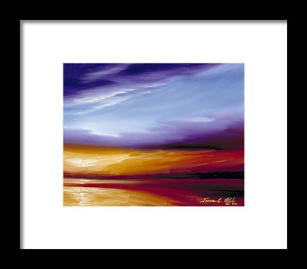 Skyscape Framed Print featuring the painting Sarasota Bay II by James Christopher Hill