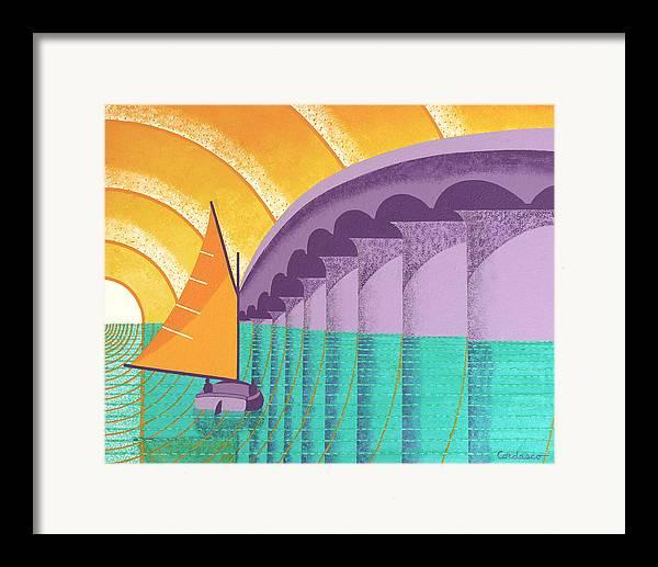 Sarasota Framed Print featuring the painting Sarasota Sail by James Cordasco