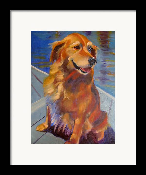 Golden Retriever Framed Print featuring the painting Sasha by Kaytee Esser