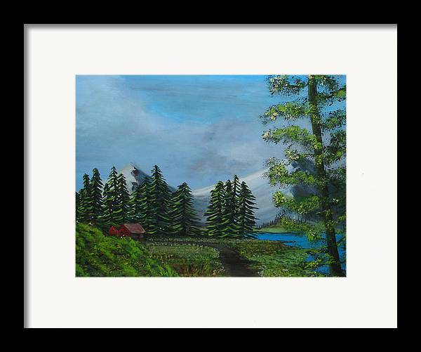 Scenery Framed Print featuring the painting Saskatchewan by Lessandra Grimley