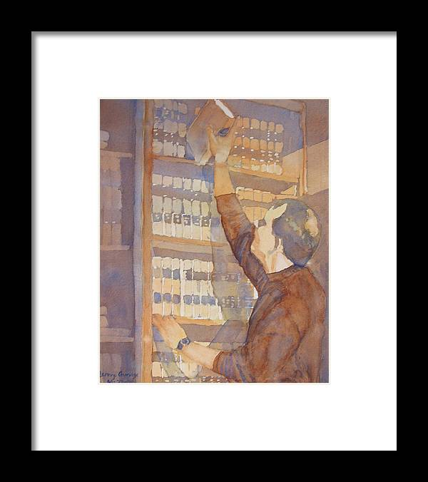 Law Framed Print featuring the painting Saturday At The Office by Jenny Armitage