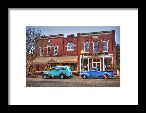 Smithfield Framed Print featuring the photograph Saturday Morning On Main Steet by Williams-Cairns Photography LLC