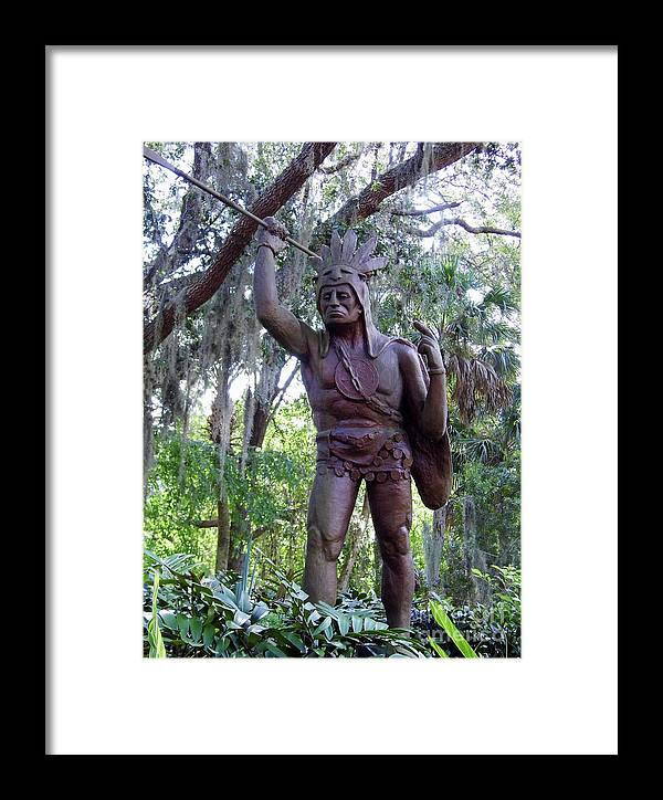 St Augustine Framed Print featuring the photograph Saturiwa by D Hackett