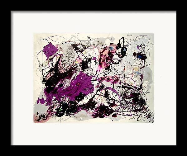 Abstract Framed Print featuring the painting Saturn by Irma Hinghofer-Szalkay