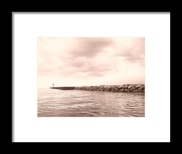 Water Framed Print featuring the photograph Saugatuck Channel by Erica Carlson