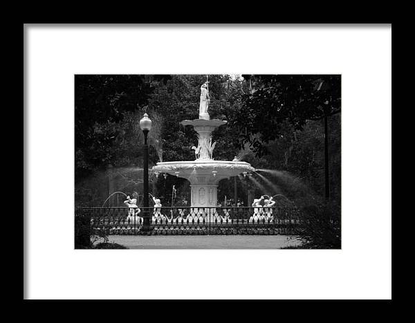 Water Fountain Framed Print featuring the photograph Savannah Fountain by Christopher Scirto