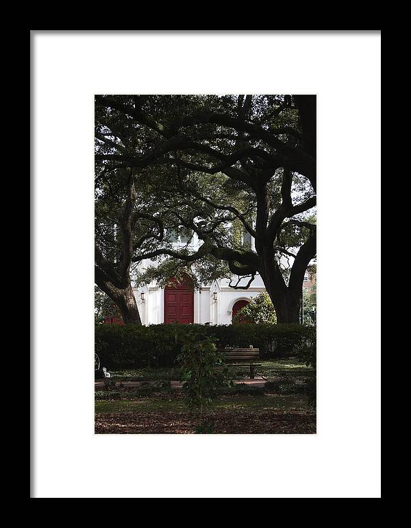 Savannah Framed Print featuring the photograph Savannah Square by Christopher Scirto
