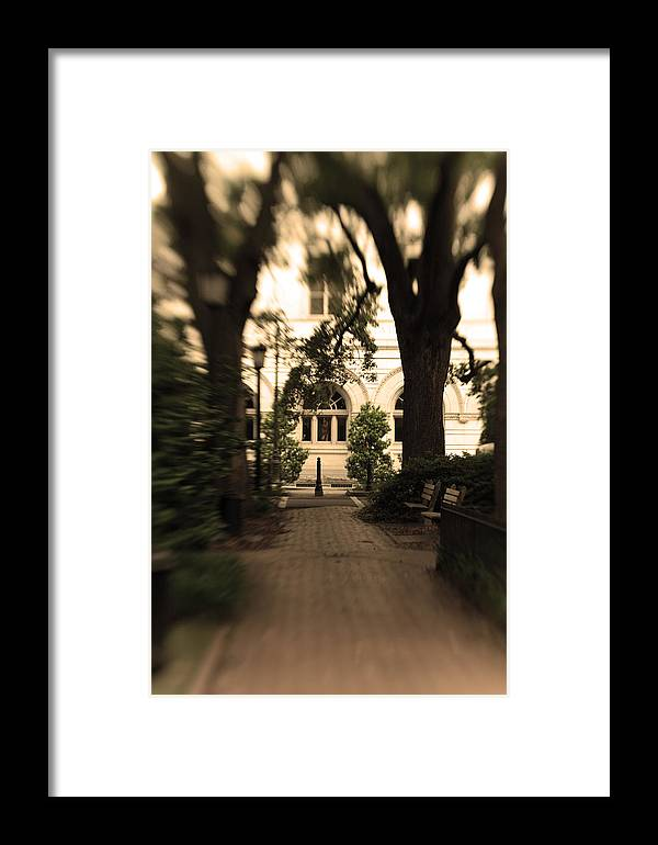 Photo Framed Print featuring the photograph Savannah Square by Sandy Belk