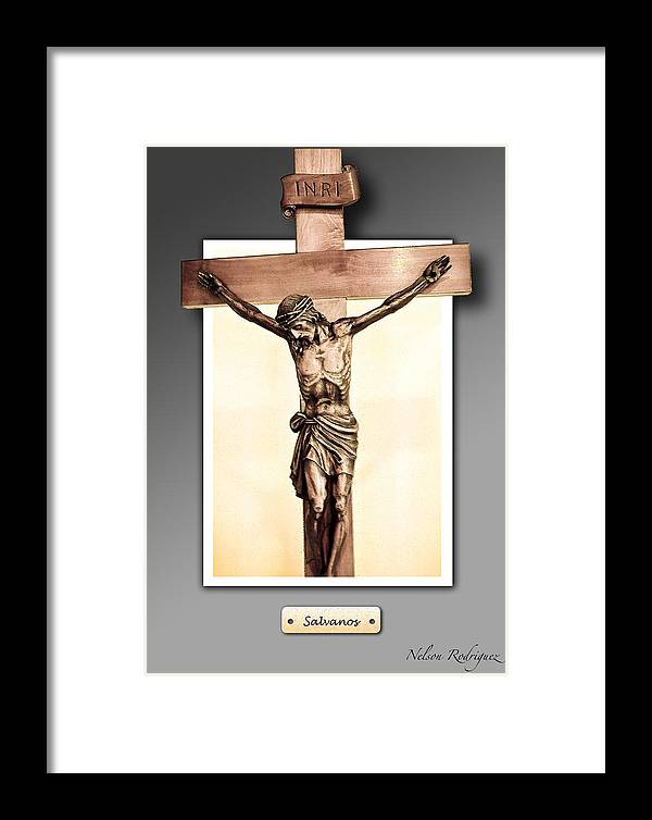 Photo Framed Print featuring the digital art Save Us by Nelson Rodriguez