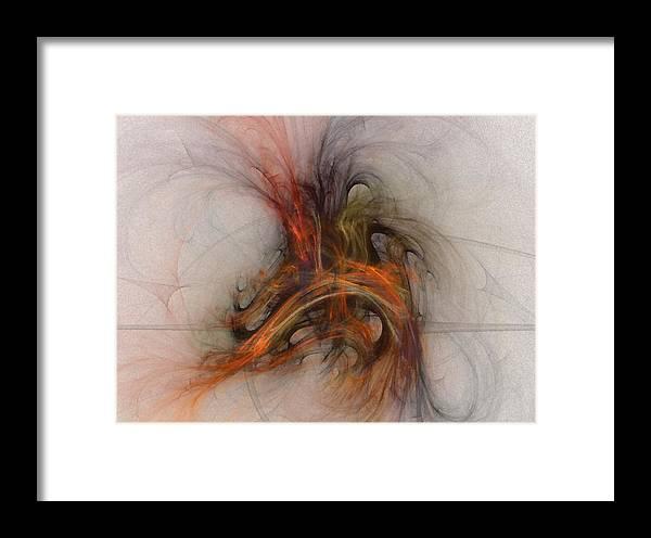 Saving Framed Print featuring the digital art Saving Omega - Fractal Art by NirvanaBlues