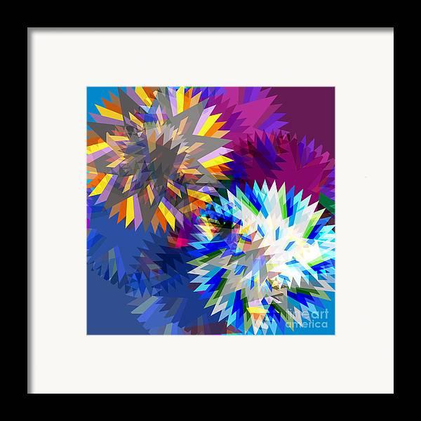 Art Framed Print featuring the digital art Saw Blade by Atiketta Sangasaeng
