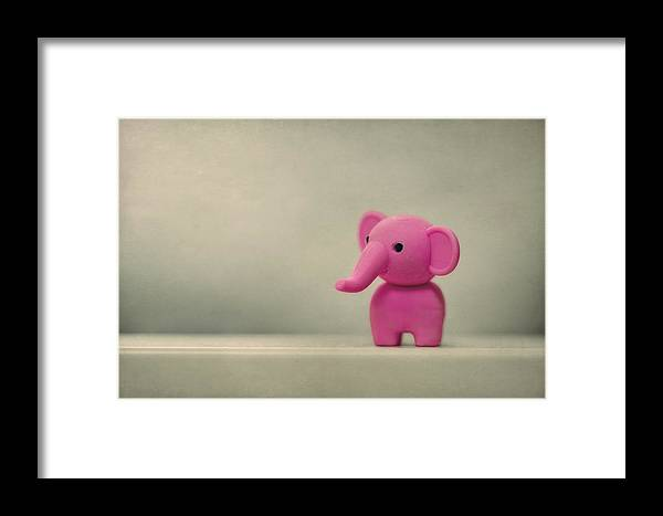 Elephant Framed Print featuring the photograph Say Hello To My Little Friend by Evelina Kremsdorf