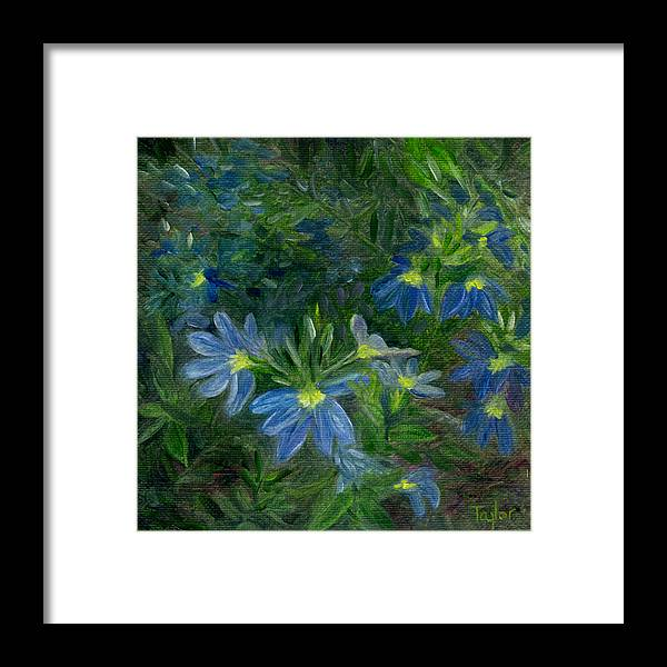 Annuals Framed Print featuring the painting Scaevola by FT McKinstry
