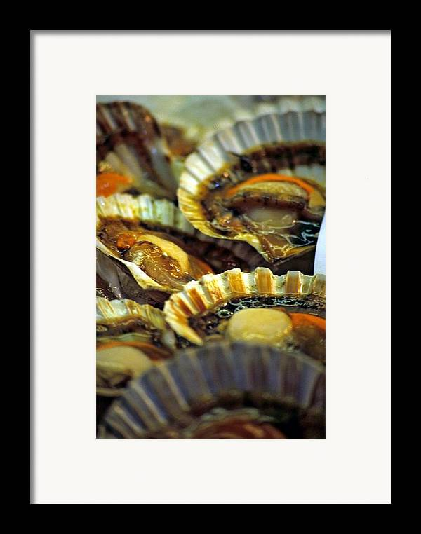 Venice Framed Print featuring the photograph Scallops At Rialto Market In Venice by Michael Henderson
