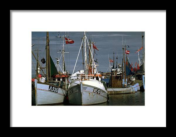 Scandinavian Framed Print featuring the photograph Scandinavian Fisher Boats by Flavia Westerwelle