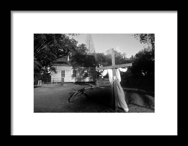 Scarecrow Framed Print featuring the photograph Scarecrow by David Lee Thompson