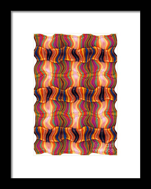 Abstract Framed Print featuring the digital art Scarf It Up by Ron Bissett