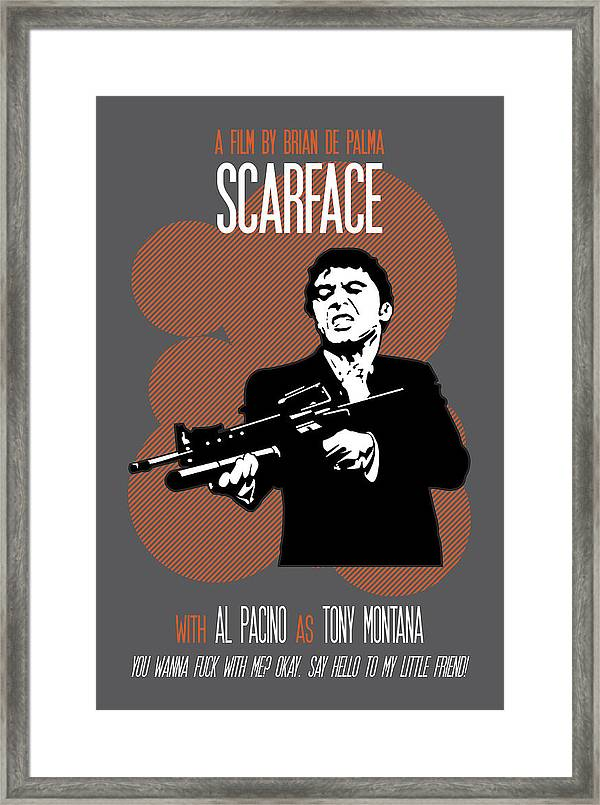 Al Pacino Scarface Beautiful Poster Print With Quote Looks