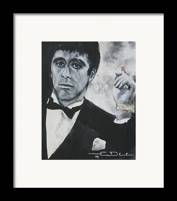Al Pacino Framed Print featuring the painting Scarface2 by Eric Dee