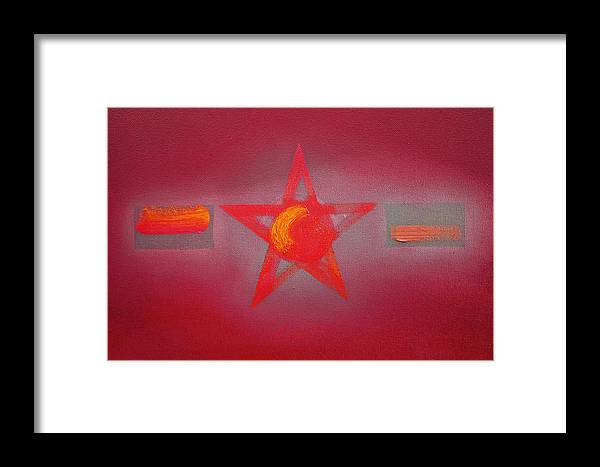 Usaaf Framed Print featuring the painting Scarlet Vermillion by Charles Stuart