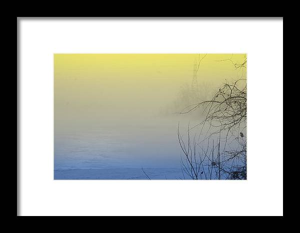 View Framed Print featuring the photograph Scenic View In Colored Fog by Nadine Mot Mitchell