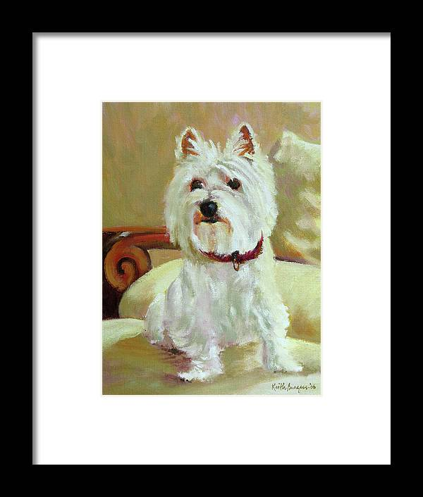 Pet Framed Print featuring the painting Schatzie by Keith Burgess