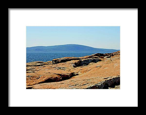 Framed Print featuring the photograph Schodic Me by Charles Willis