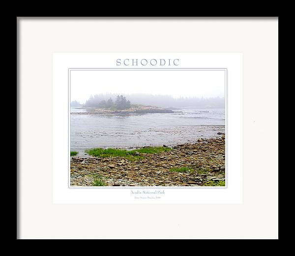 Landscape Framed Print featuring the photograph Schoodic by Peter Muzyka