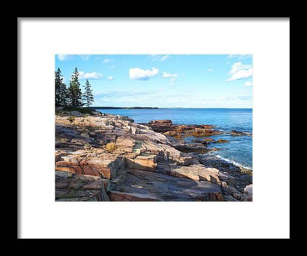 Seascape Framed Print featuring the photograph Schoodic Shoreline by Scott Bricker