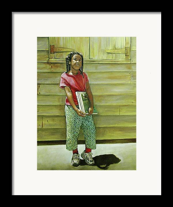 Kids Framed Print featuring the painting School Daze by Curtis James