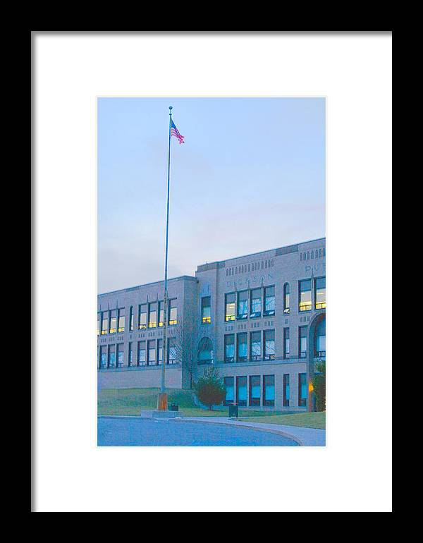 Building Framed Print featuring the photograph School by John Toxey