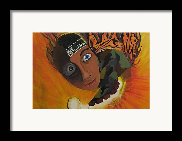 Schoolboy Framed Print featuring the painting Schoolboy Fantasy by Darren Stein