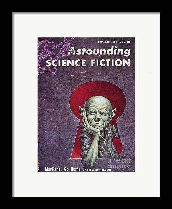 1954 Framed Print featuring the photograph Science Fiction Cover, 1954 by Granger