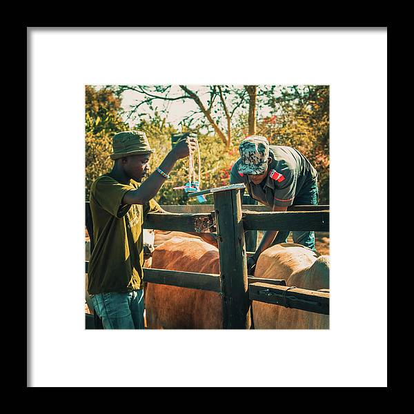 Kenya Framed Print featuring the photograph Science In Africa by Lu Yang