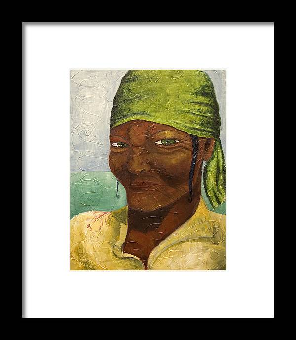 Portrait Framed Print featuring the painting Scorn by Michelle Key