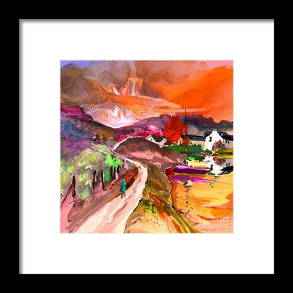 Scotland Paintings Framed Print featuring the painting Scotland 02 by Miki De Goodaboom