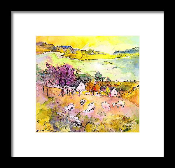 Scotland Framed Print featuring the painting Scotland 20 by Miki De Goodaboom