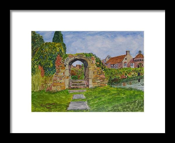 Castle Framed Print featuring the painting Scotney Castle Lamberhurst Kent by Tony Williams