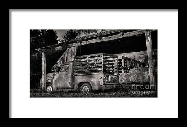 Scotopic Framed Print featuring the photograph Scotopic Vision 5 - The Barn by Pete Hellmann