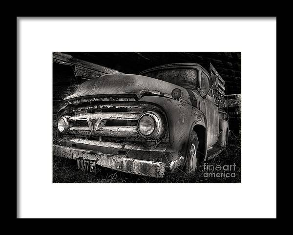 Scotopic Framed Print featuring the photograph Scotopic Vision 6 - 53 Ford by Pete Hellmann