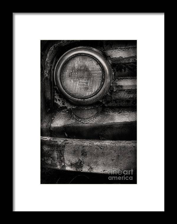 Scotopic Framed Print featuring the photograph Scotopic Vision 7 - Headlight by Pete Hellmann