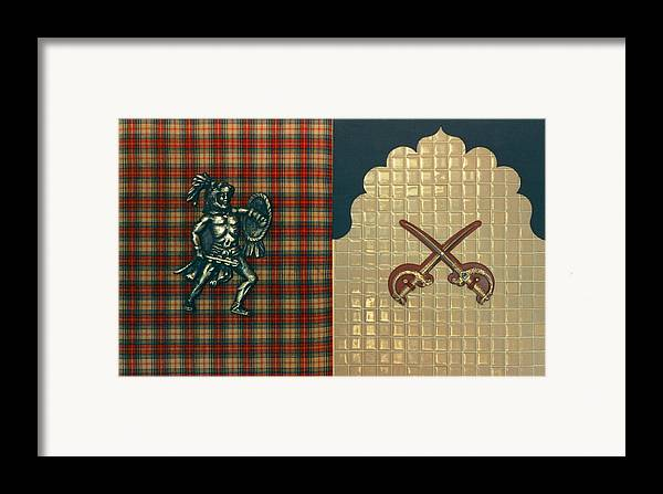 Conceptual Found Art Dada Pop Framed Print featuring the print Scottish Arabian by Paul Knotter