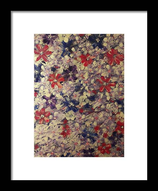 Flowers Framed Print featuring the painting Scotty by Tracy Fetter