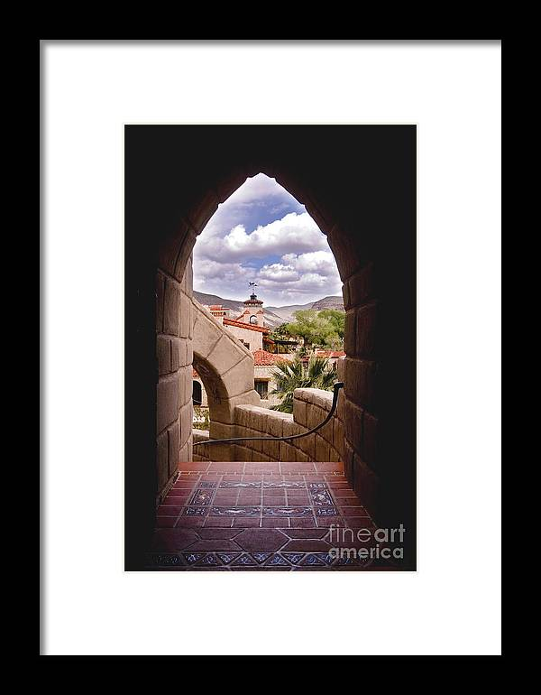 California Framed Print featuring the photograph Scotty's Castle by Greg Clure